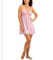 inc lace-trimmed knit chemise nightgown, created for macy's