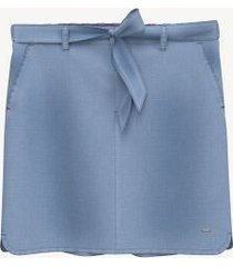 tommy hilfiger women's essential belted chambray skirt sky captain - m