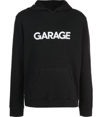 garage x the elder statesman black logo hoodie