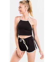 women's mila soft shorts in black by francesca's - size: l