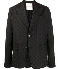 marco de vincenzo relaxed fit blazer - black