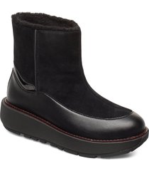 elin snuggle boot shoes boots ankle boots ankle boots flat heel svart fitflop