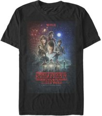 fifth sun men's stranger things classic group poster short sleeve t-shirt