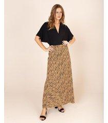 maxi falda animal print