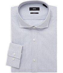 jason sharp-fit print dress shirt