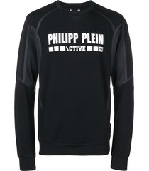 philipp plein active sports sweatshirt - black