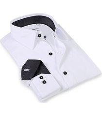 levinas men's tailored-fit dress shirt - white - size 15.5