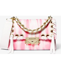 mk borsa a tracolla cece extra small in pelle tie-dye - shell pink - michael kors