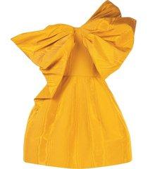 one shoulder bow cocktail dress
