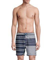 glasfish striped swim shorts