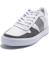 tenis blanco/gris  viola sch-101