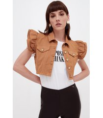 gilet cropped in drill