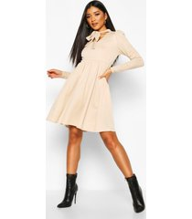 bow neck smock dress, stone