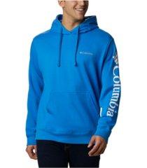 columbia men's viewmont ii logo graphic sleeve hoodie
