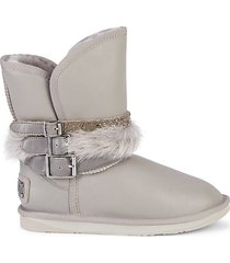 hatchet shearling & double-face sheepskin leather boots