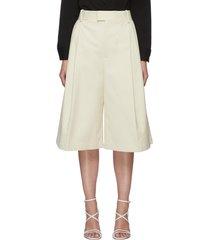 wide leg cotton shorts