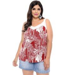 blusa arimath plus size joana vermelha