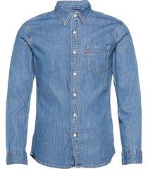 sunset 1 pkt slim cotton tence overhemd casual blauw levi´s men