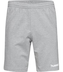 hmlgo cotton bermuda shorts shorts casual grå hummel