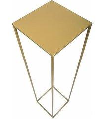kwietnik metalowy stojący loft 100 cm złoty