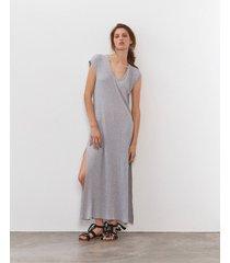 vestido gris desiderata holbox