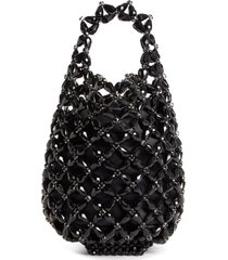 simone rocha small beaded shopper bag - black