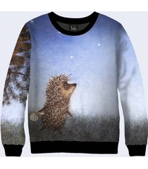 2017 hedgehog in the fog sweatshirt cozy sweaters cute sweatshirt blue sweatshir