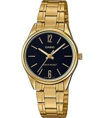 ltp-v005g-1b reloj dorado dama casio 100% original