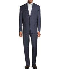 lauren ralph lauren men's standard-fit wool-blend tonal stripe suit - blue - size 42 s
