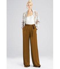 natori viscose satin pants, women's, size 6