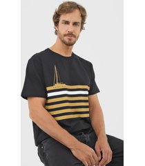 camiseta yachtsman listras preta