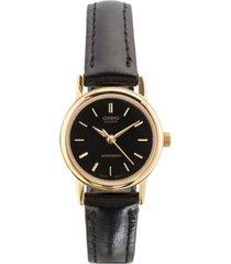 reloj analógico mujer casio ltp-1095q-1a - negro