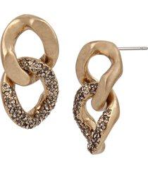 women's allsaints double chain link earrings