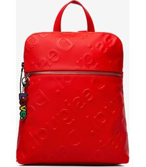 backpack logo in relief - red - u