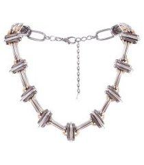 colar choker armazem rr bijoux corrente prata