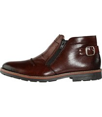 skor med dubbla dragkedjor rieker brun