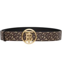 burberry e-canvas belt with monogram motif