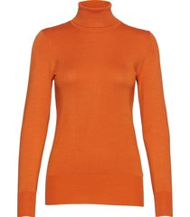 astrid roll neck turtleneck polotröja orange kaffe