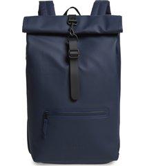 men's rains waterproof rolltop backpack - blue