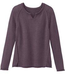 gebreide trui van puur bio-katoen, pruimkleur 40