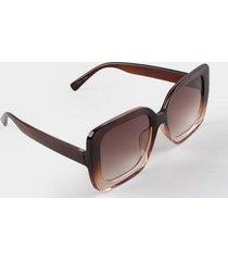 nancy oversized sunglasses - brown