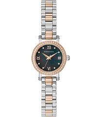 classic two-tone stainless steel & crystal bracelet watch