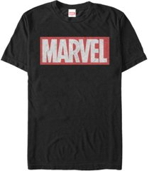 marvel men's distressed marvel men's logo short sleeve t-shirt
