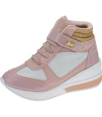 tênis sneaker joys shoes velcro rosa
