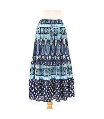 rayon tiered skirt, 'paisley promise' (thailand)
