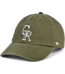 '47 brand colorado rockies olive white clean up cap