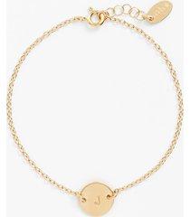 nashelle initial mini disc bracelet in 14k gold fill j at nordstrom