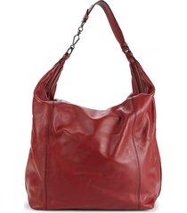bottega veneta women's leather hobo bag - red