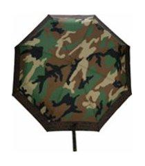 moschino guarda-chuva com estampa camuflada - verde