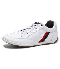 sapatenis tenis confort de couro masculino branco